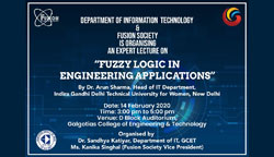 Expert Lecture On Fuzzy Logic In Engineering Applications